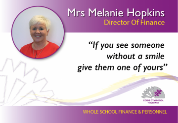 Finance Director - Mrs Melanie Hopkins