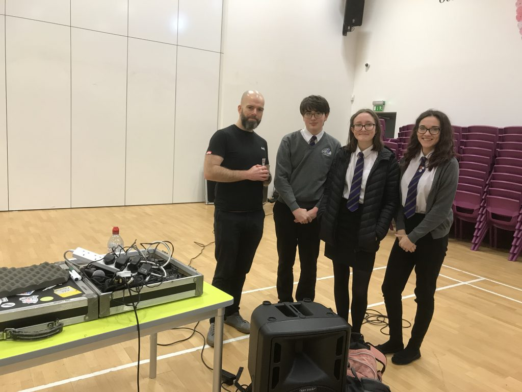 Welsh Beat-boxer visits CCYD as part of Urdd workshop.