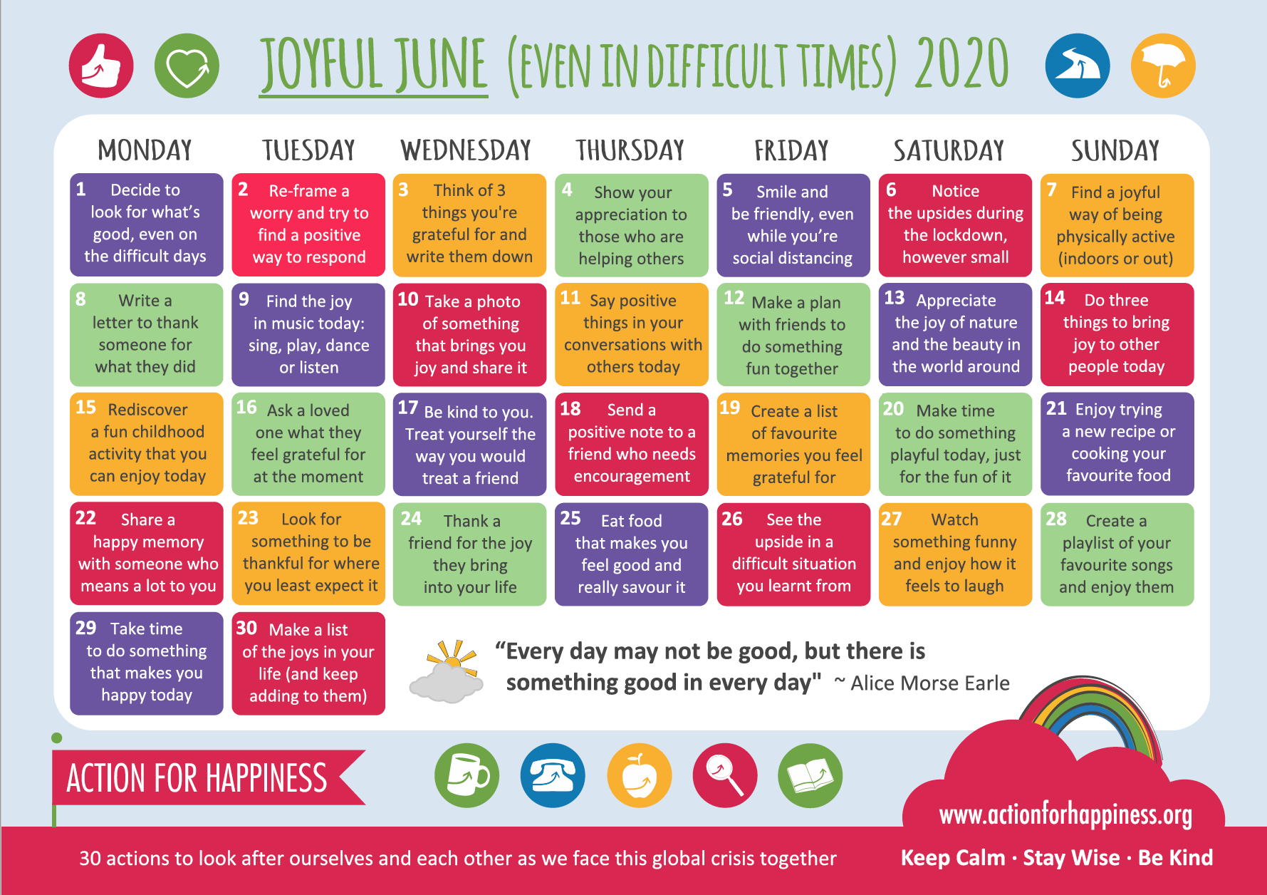 30 days wild and Joyful June