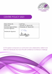 Centre Policy CCYD 2021